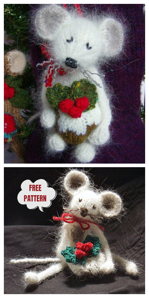 Knit Very Mice Christmas Mouse Ornament Free Knitting Patterns