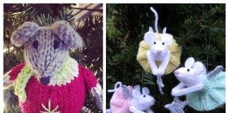 Knit Christmas Mouse Ornament Free Knitting Patterns