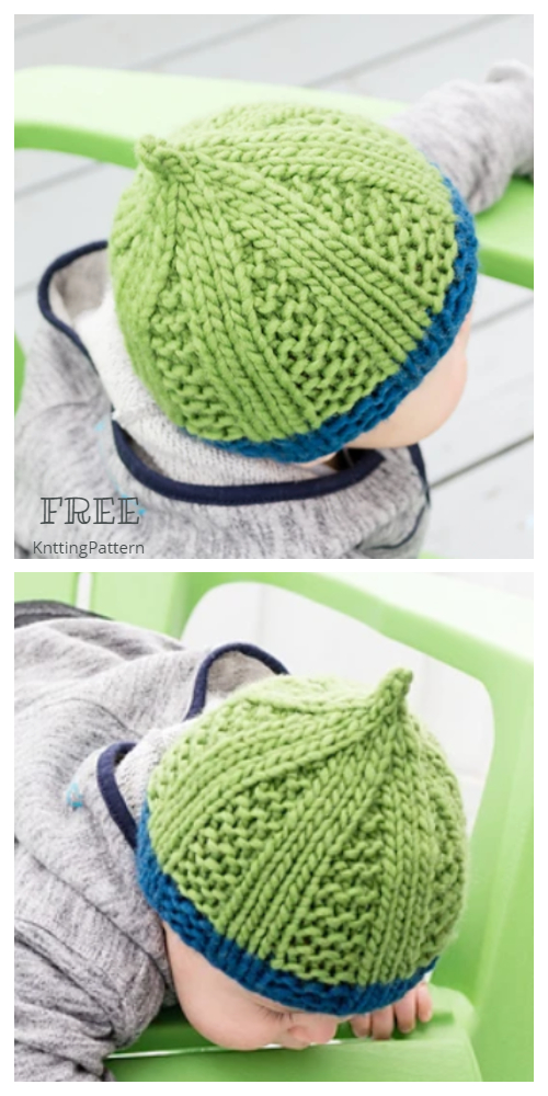 Knit Filigrane Pixie Hat Free Knitting Pattern
