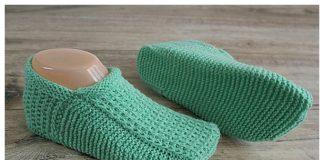 Knit Seamless Slippers Free Knitting Pattern + Video