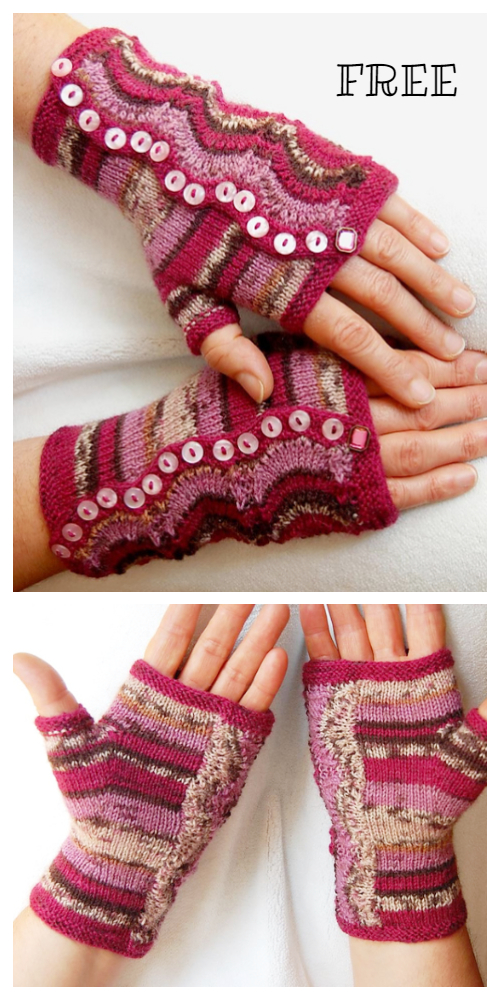 Knit Spatterdash Wristwarmers Free Knitting Pattern