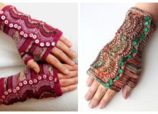Knit Spatterdash Wristwarmers Free Knitting Pattern