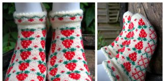Knit Strawberry Socks Free Knitting Pattern