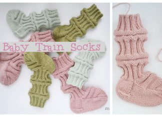 Knit Train Baby Socks Free Knitting Pattern