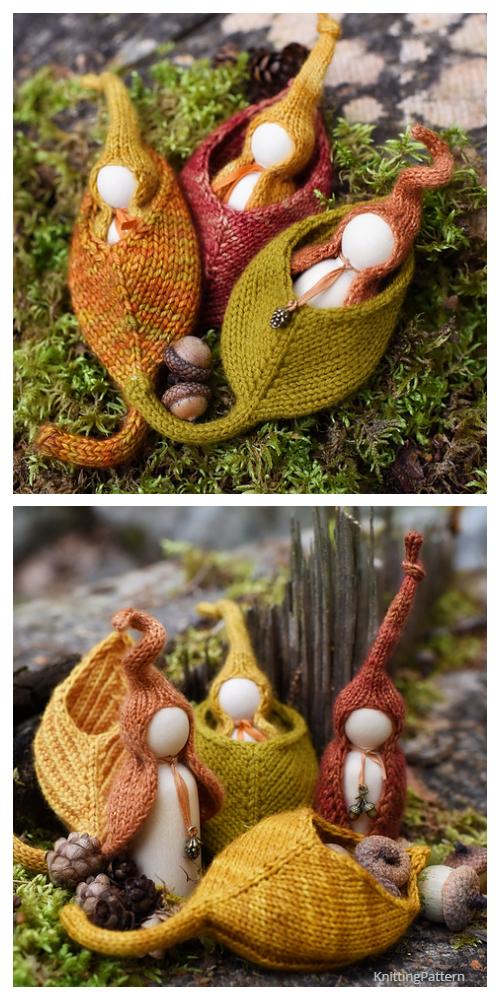Nestled Leaf Pod Knitting Pattern