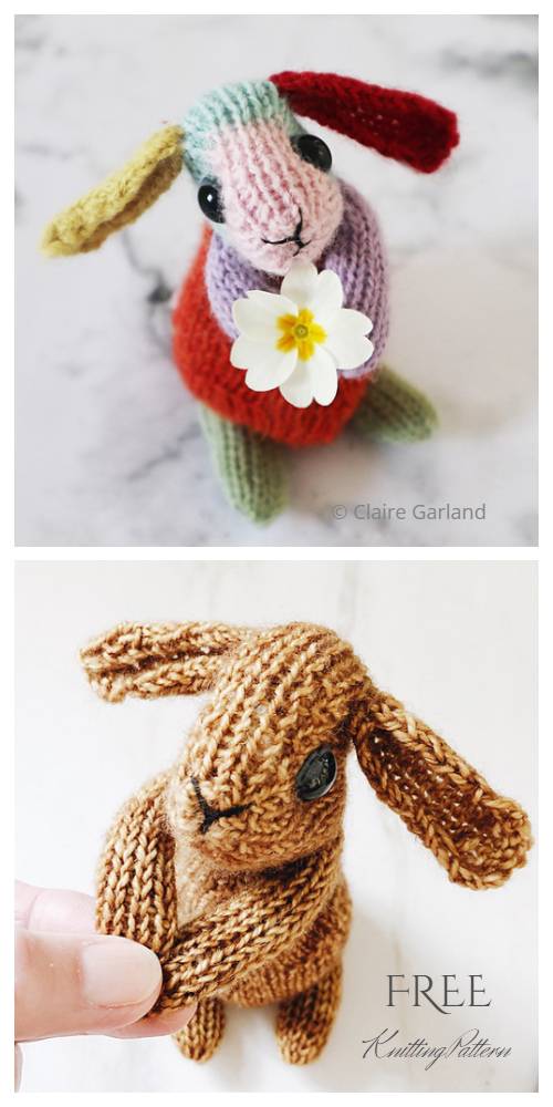 Amigurumi Rainbow Easter Bunny Free Knitting Pattern