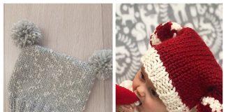 Baby Sack Beanie Hat Free Knitting Patterns