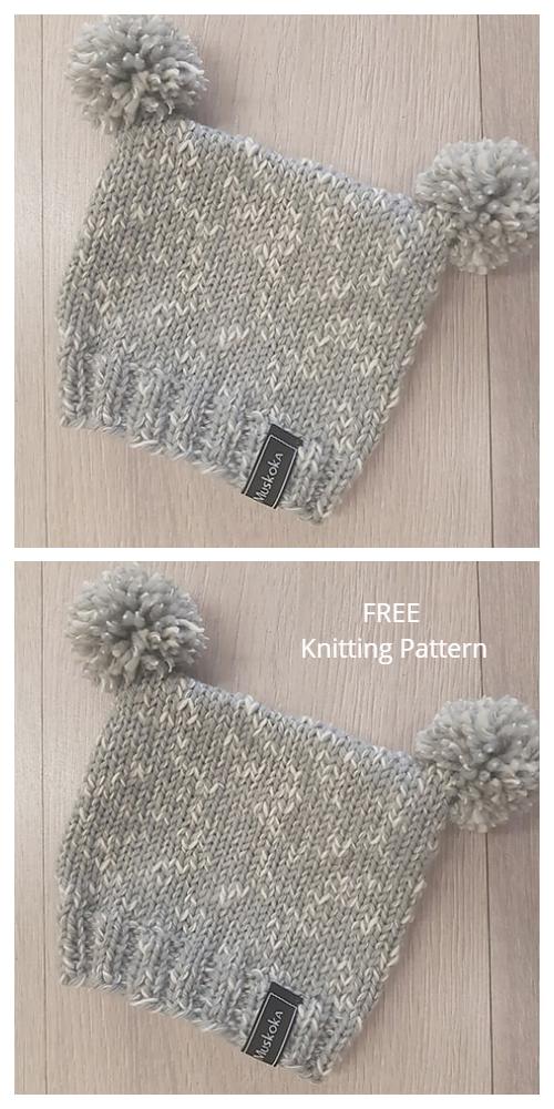 Baby Kiwi Sack Beanie Hat Free Knitting Patterns