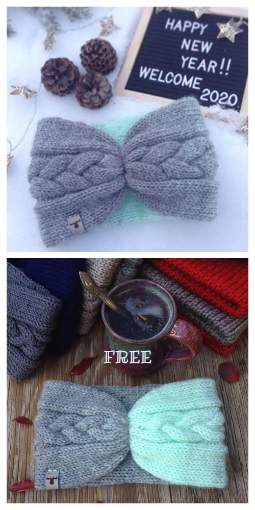 Knit Braid Cable Headband Free Knitting Pattern
