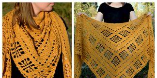 Knit Sienna Lace Shawl Free Knitting Pattern