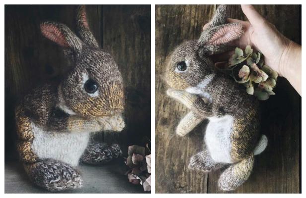 Easy Crochet Easter Bunny Amigurumi Free Pattern | 400x616