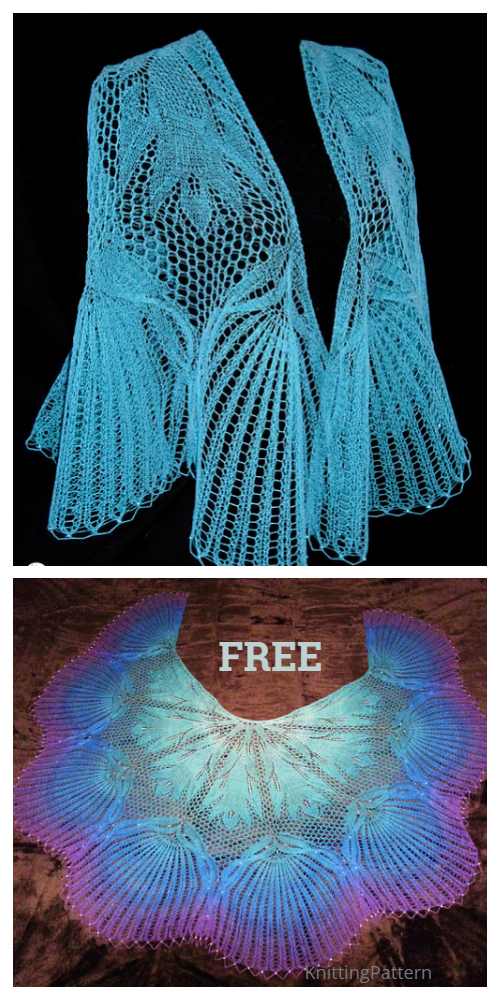 Cabled Doily Lace Shawl Free Knitting Pattern