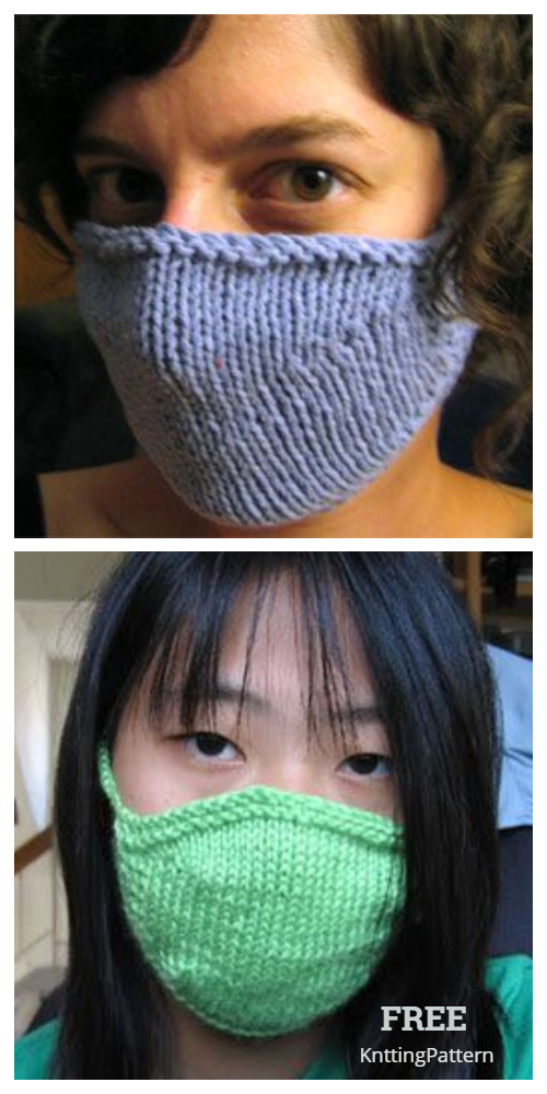 Knit Face Mask Free Knitting Pattern