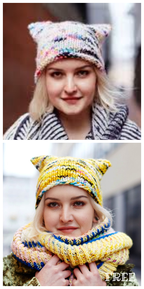Knit Cat Hat Free Knitting Pattern