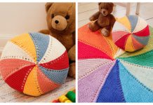 Easy Knit Color Wheel Carpet & Pillow Free Knitting Patterns