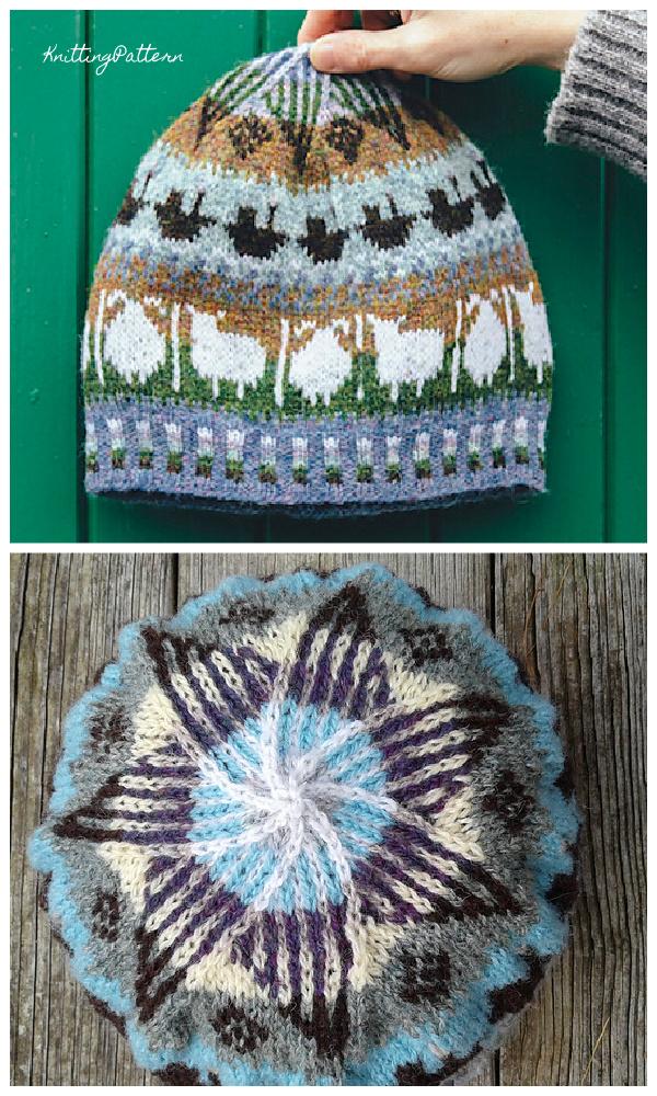 Knit Fair Isle Roadside Beanie Hat Knitting Pattern