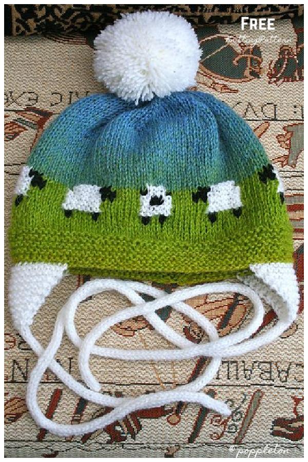 Knit Baby Sheep Hat Free Knitting Pattern