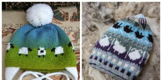 Knit Fair Isle Sheep Hat Free Knitting Pattern & Paid