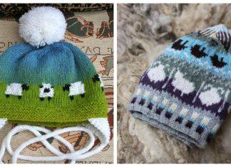 Knit Fair Isle Sheep Hat Free Knitting Pattern & Paid