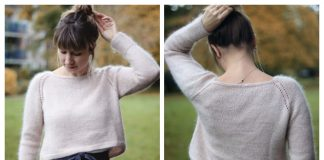 Knit High Low Pullover Sweater Free Knitting Pattern