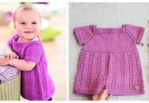 Knit Kelsey Pinafore Baby Dress Free Knitting Pattern