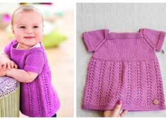 Knit Kelsey Pinafore Baby Dress Free Knitting Pattern