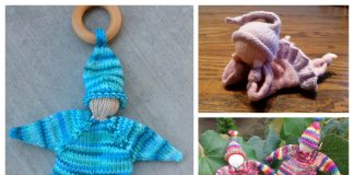 Knit Knubbelchen Doll Baby Lovey Free Knitting Patterns
