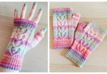 Knit Love Bug Cable Mittens Free Knitting Pattern