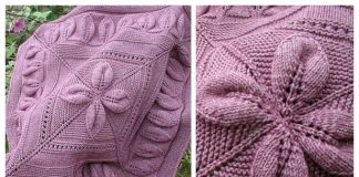 Knit Lucky 4-Leaf Afghan Blanket Free Knitting Pattern