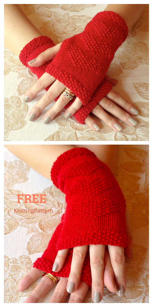 Knit Be My Valentine Fingerless Gloves Free Knitting Patterns