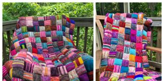 The Beekeeper's Quilt Blanket Knitting Pattern Free & Paid