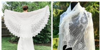 Wedding Peacock Lace Shawl Free Knitting Pattern