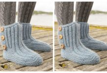 Adult Rib Boots Free Knitting Pattern