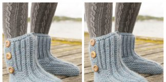 Adult Rib Boots Free Knitting Pattern