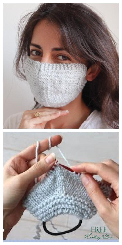 Knit Face Mask Free Knitting Patterns + Video
