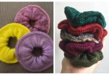 Knit Luxury Scrunchie Free Knitting Patterns