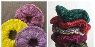 Knit Luxury Scrunchie Free Knitting Patterns