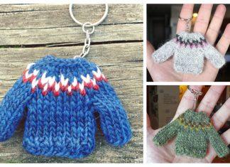 Knit Mini Sweater Keychain Free Knitting Pattern