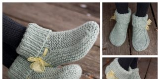 Knit Nola's Slippers Free Knitting Pattern
