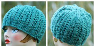 Knit Rickrack Braid Hat Free Knitting Pattern