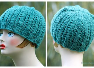 Knit Rickrack Braid Hat Free Knitting Pattern