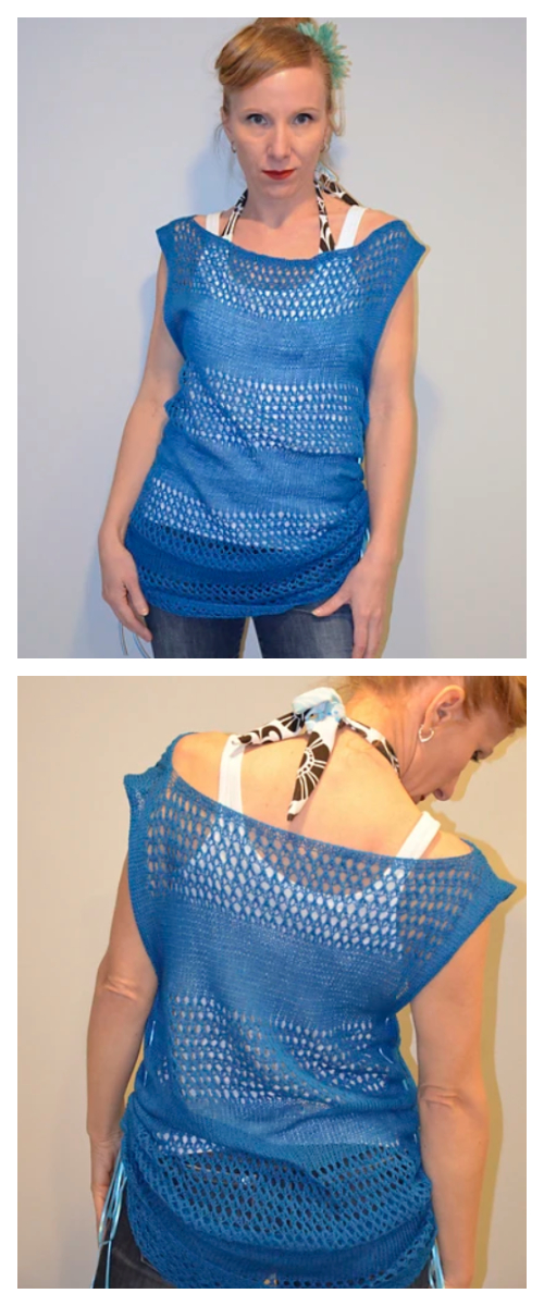 Knit Women Summer Tee Top Free Knitting Patterns