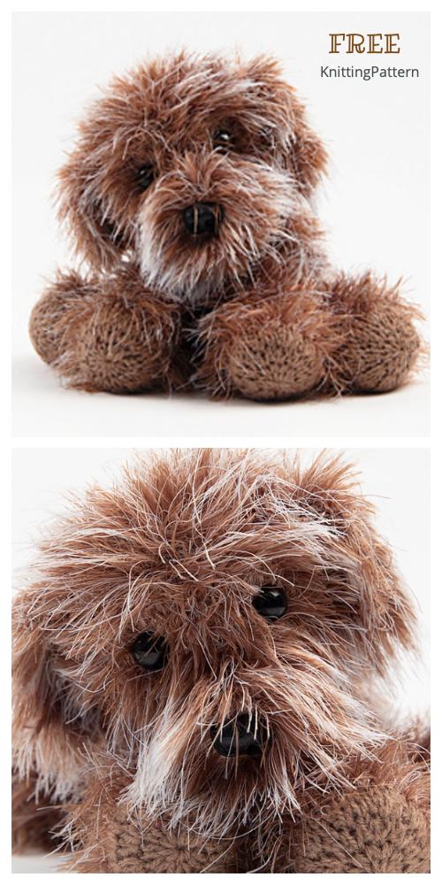 Amigurumi Cavapoochon Puppy Free Knitting Pattern