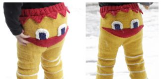 Knit Kids Easter Chicken Pants Free Knitting Pattern