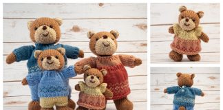 Amigurumi Bear Family Free Knitting Pattern