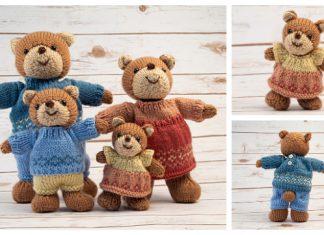 Amigurumi Bear Family Free Knitting Pattern