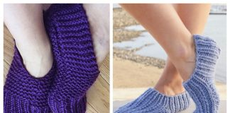Easy Knit Rib Slippers Free Knitting Patterns