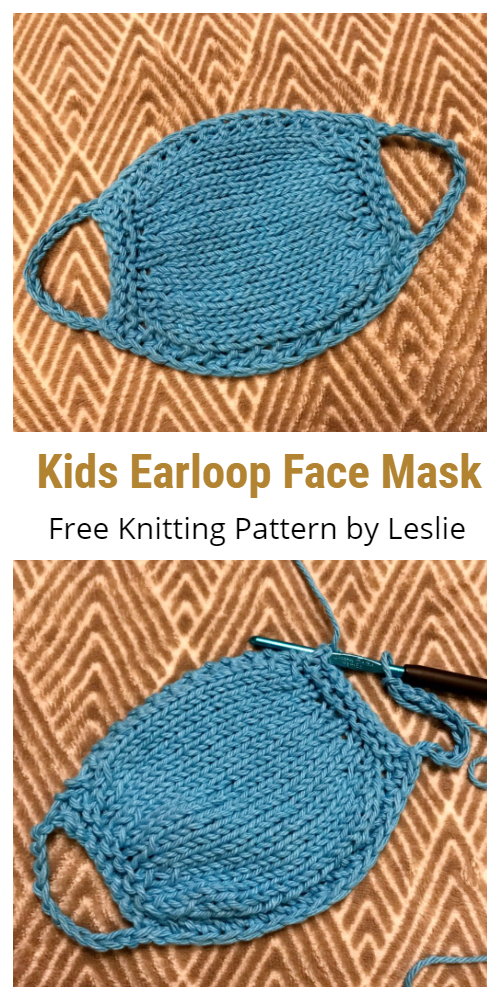 Kids Seamless Earloop Face Mask Free Knitting Patterns