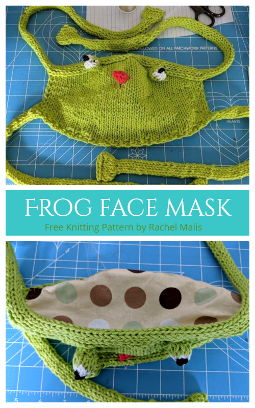 Knit Frog Face Mask Free Knitting Pattern