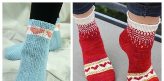 Knit Heart Valentine Socks Free Knitting Patterns